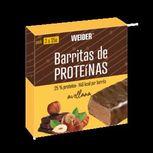 barritas de proteinas avellana