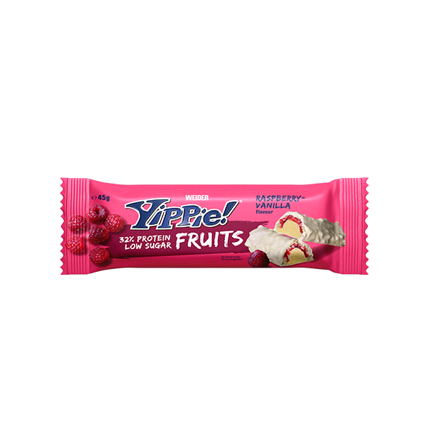 yippie fruits bar rapsberry vainilla